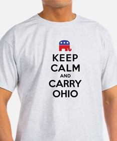 Keep Calm and Carry Ohio Rep T-Shirt