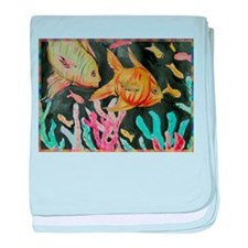 Fish! Colorful nature art! baby blanket
