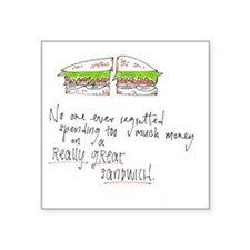 "Sandwich Square Sticker 3"" x 3"""