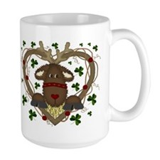 Christmas Reindeer Wreath Mug