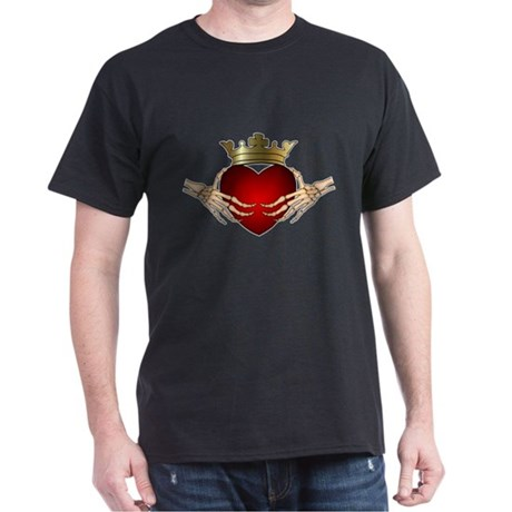 Skeleton Claddagh Black T-Shirt