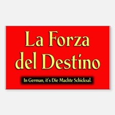 La Forza del Destino Rectangle Decal