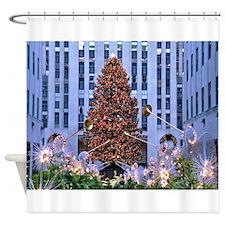 Rock Center Christmas Shower Curtain