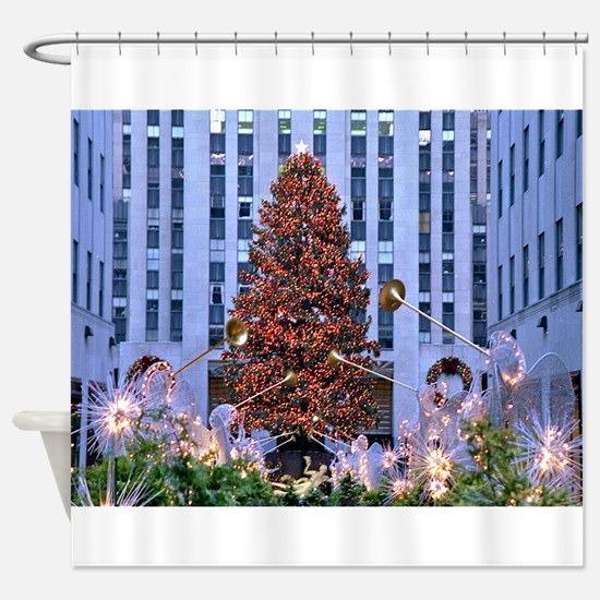 Rock Center Christmas Shower Curtain