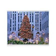 Rock Center Christmas Throw Blanket