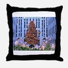 Rock Center Christmas Throw Pillow
