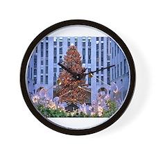 Rock Center Christmas Wall Clock
