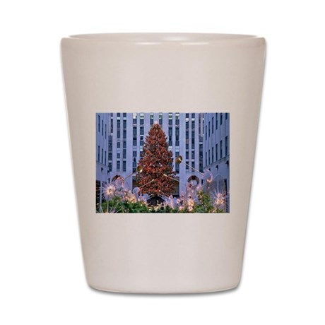 Rock Center Christmas Shot Glass
