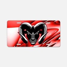 Red Ram Aluminum License Plate