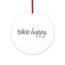 Bike Happy Ornament (Round)