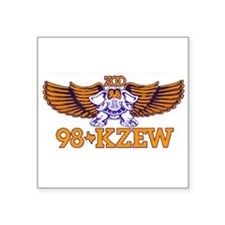 "KZEW (1982) Square Sticker 3"" x 3"""