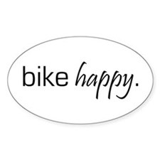 Bike Happy Oval Decal