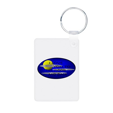 I LOVE YOU TO THE MOON AND BACK Aluminum Photo Key