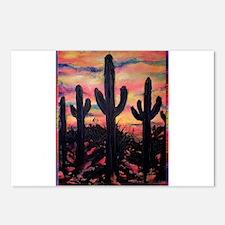 Desert, southwest art! Saguaro cactus! Postcards (
