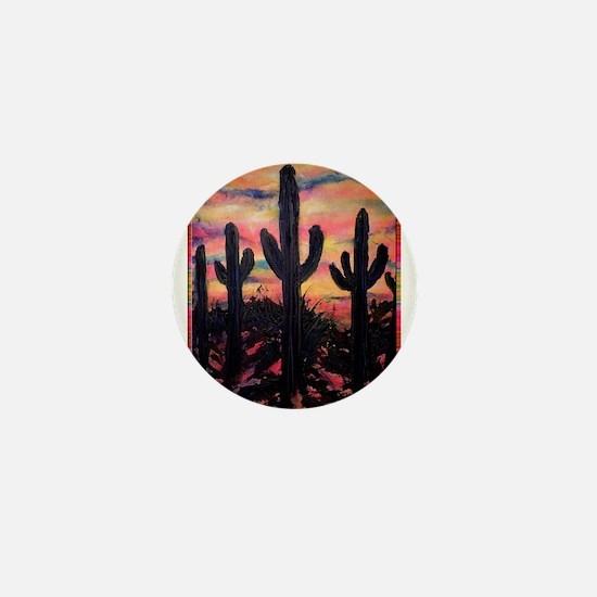 Desert, southwest art! Saguaro cactus! Mini Button