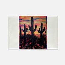 Desert, southwest art! Saguaro cactus! Rectangle M