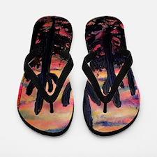 Desert, southwest art! Saguaro cactus! Flip Flops