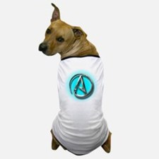 Atheist Logo (Aqua) Dog T-Shirt