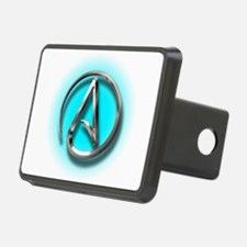 Atheist Logo (Aqua) Hitch Cover