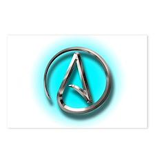 Atheist Logo (Aqua) Postcards (Package of 8)