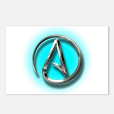 Atheist Logo (Aqua) Postcards (Package of 8)