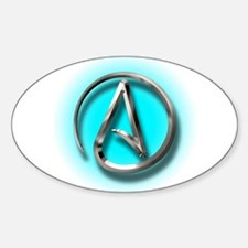 Atheist Logo (Aqua) Decal