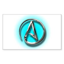 Atheist Logo (Aqua) Decal