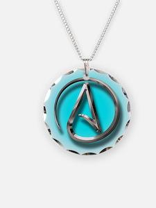 Atheist Logo (Aqua) Necklace