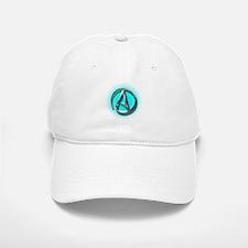 Atheist Logo (Aqua) Baseball Baseball Cap