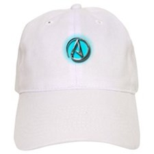 Atheist Logo (Aqua) Baseball Cap