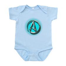 Atheist Logo (Aqua) Infant Bodysuit