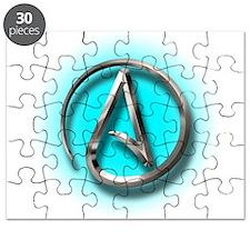 Atheist Logo (Aqua) Puzzle