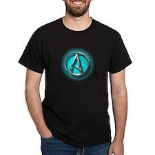 Atheist Logo (Aqua) T-Shirt