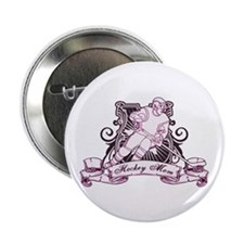 """Hockey Mom 2.25"""" Button (100 pack)"""