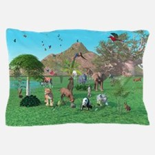 An Exotic Wild Animal Scene Pillow Case