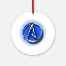 Atheist Logo (blue) Ornament (Round)