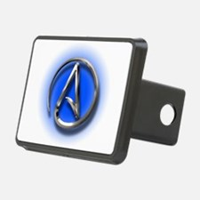 Atheist Logo (blue) Hitch Cover