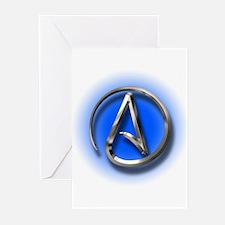 Atheist Logo (blue) Greeting Cards (Pk of 10)