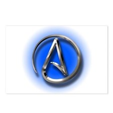 Atheist Logo (blue) Postcards (Package of 8)