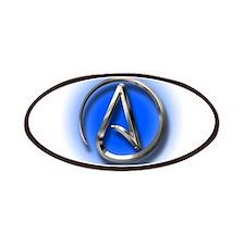 Atheist Logo (blue) Patches