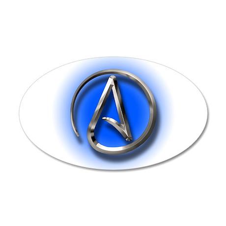 Atheist Logo (blue) 20x12 Oval Wall Decal