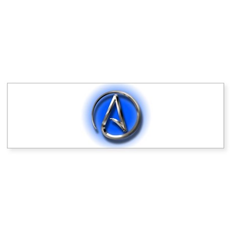 Atheist Logo (blue) Sticker (Bumper)