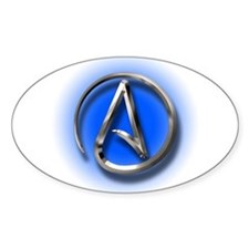 Atheist Logo (blue) Decal