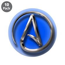 "Atheist Logo (blue) 3.5"" Button (10 pack)"