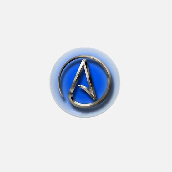 Atheist Logo (blue) Mini Button