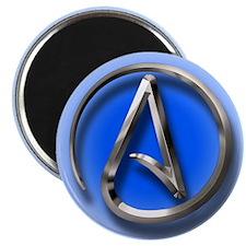 "Atheist Logo (blue) 2.25"" Magnet (10 pack)"