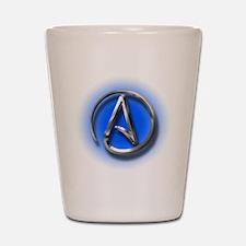Atheist Logo (blue) Shot Glass