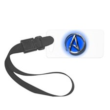 Atheist Logo (blue) Luggage Tag