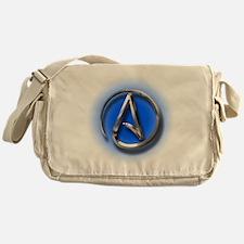 Atheist Logo (blue) Messenger Bag