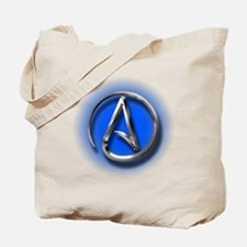 Atheist Logo (blue) Tote Bag